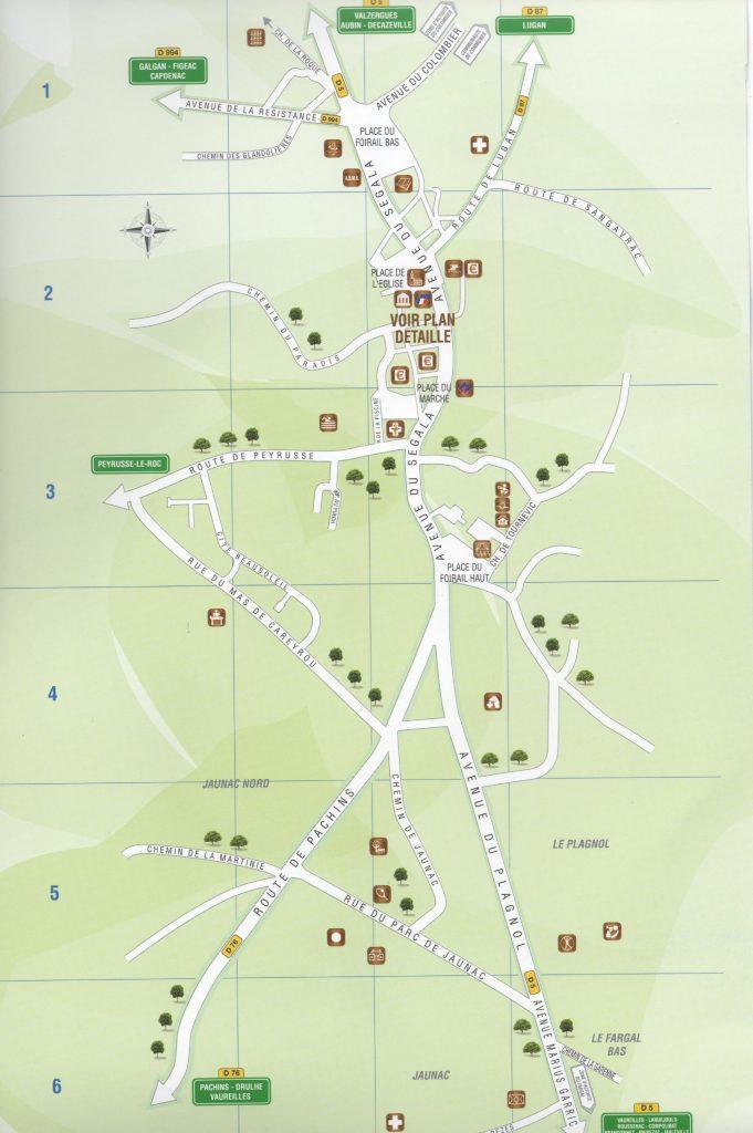 Plan de la commune de Montbazens